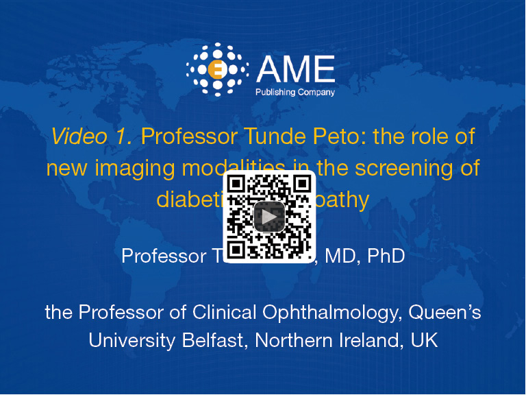 Professor Tunde Peto: the role of new imaging modalities in the